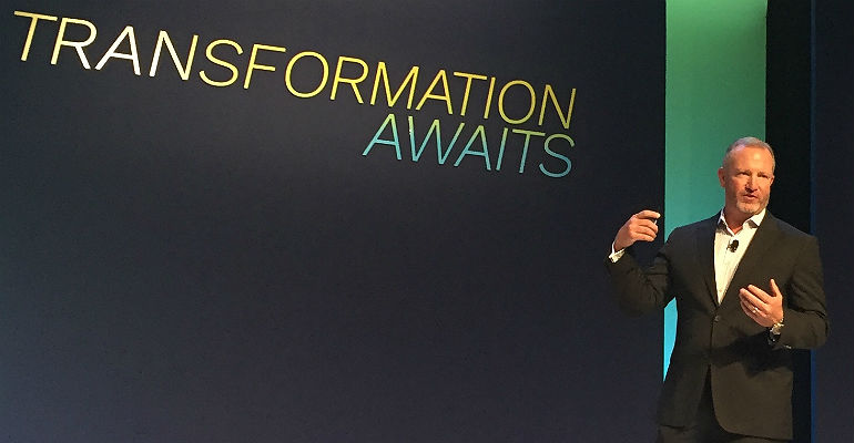Tech Data's Shaun Shuler on stage at Tech Data Partner Summit 2018.