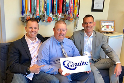 Charlie Pagliazzo of Granite with Patrick Oborn and Adam Edwards of Telarus