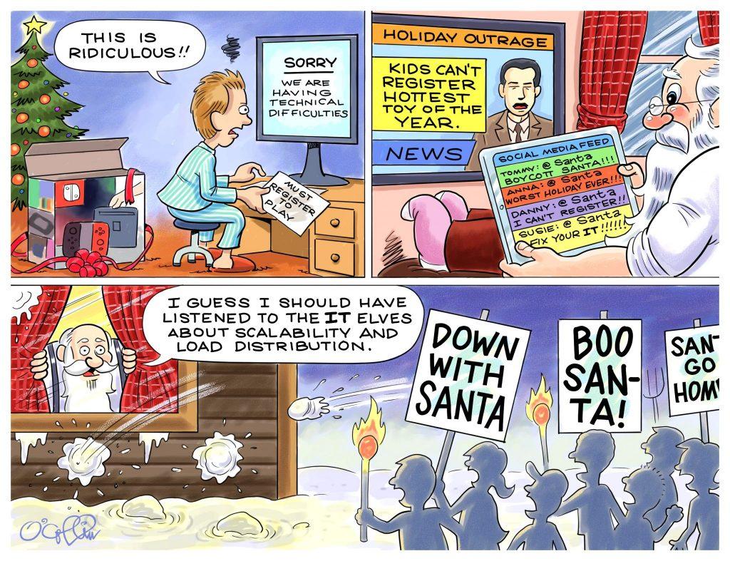 Sungard Santa Cartoon Dec. 2018