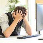 Depressed at Computer