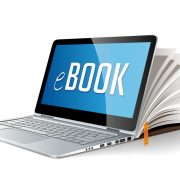 Ebook on laptop