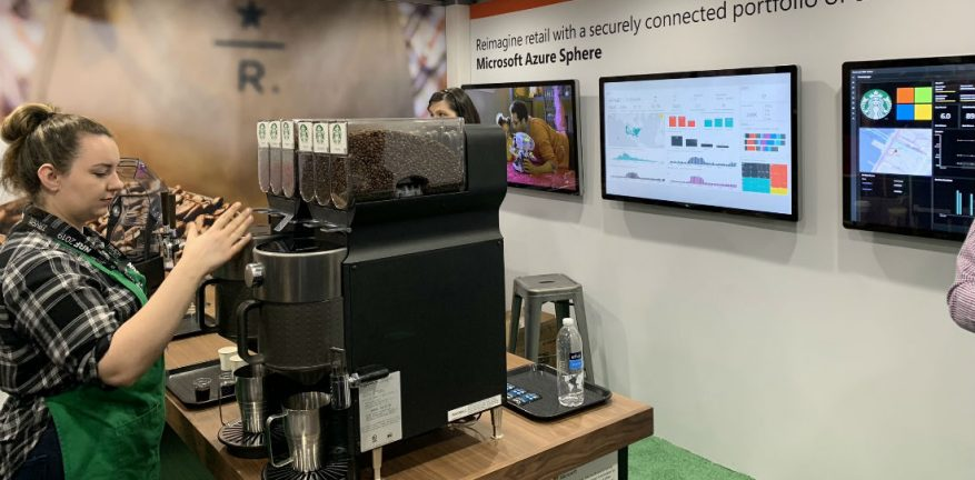 Starbucks at Microsoft Booth NRF 2019