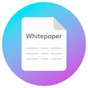 Whitepaper icon on circular background