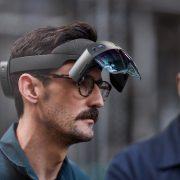HoloLens 2 with a new visor flip.