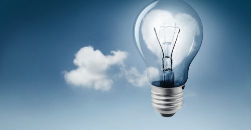Light Bulb and Cloud