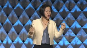 Cisco's Amy Chang on stage at Enterprise Connect 2019.