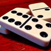 zoomed in domino