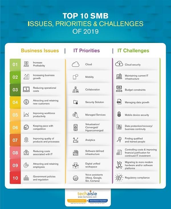 Techaisle Infographic 2019 Challenges