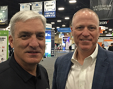 Windstream's Cardi Prinzi (left) and Curt Allen at the 2019 Channel Partners Conference & Expo.