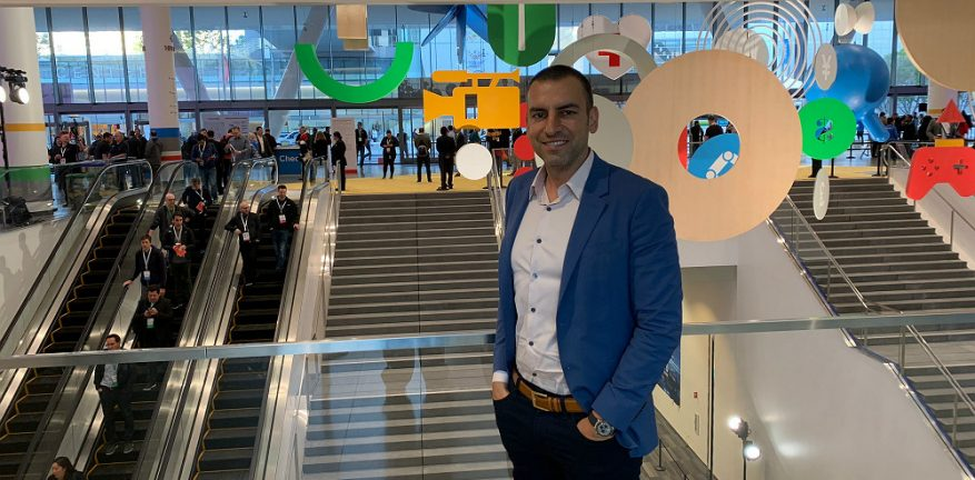 SADA Systems' Tony Safoian at Google Cloud Next '19 in San Francisco.