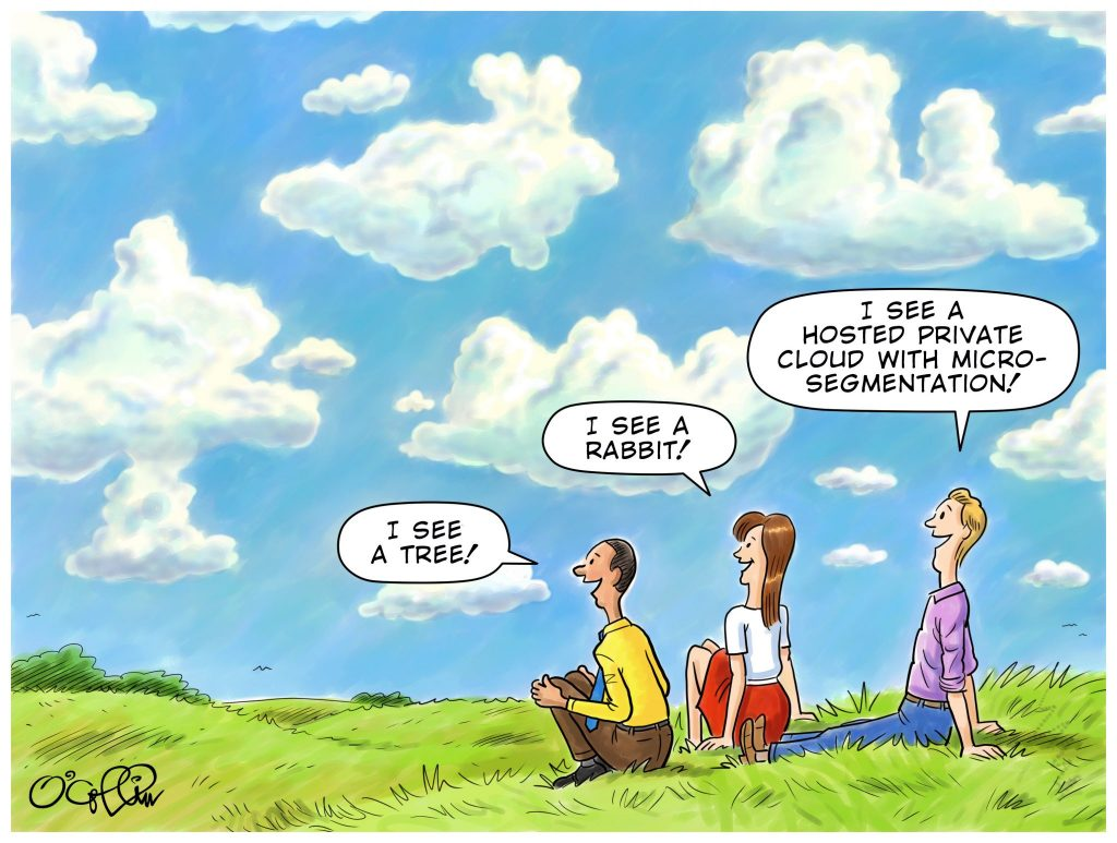 Sungard AS Hosted Private Cloud Cartoon