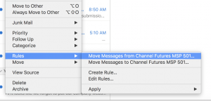 Move Messages From in Outlook