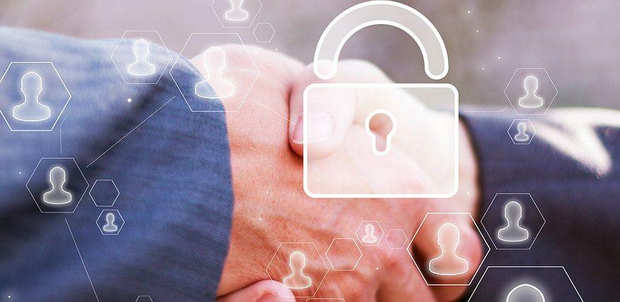 Cybersecurity Partnership Handshake