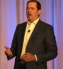 CEO Chuck Robbins speaks to the media at Cisco Live 2019 in San Diego.