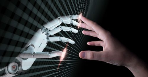 Artificial Intelligence Hand and Robot