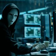 Scary Malicious Hacker with Mask