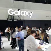 Banner at Samsung Galaxy Unpacked 2018