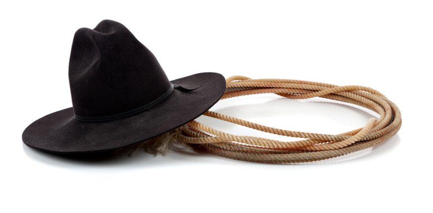 Black hat with lariat