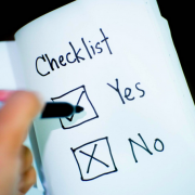 Checklist with Yes and No
