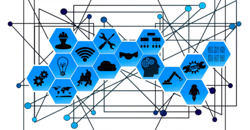 Graphic showing internet of things IoT