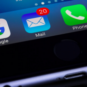 Mail icon on smartphone