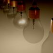 Multiple lightbulbs strung together