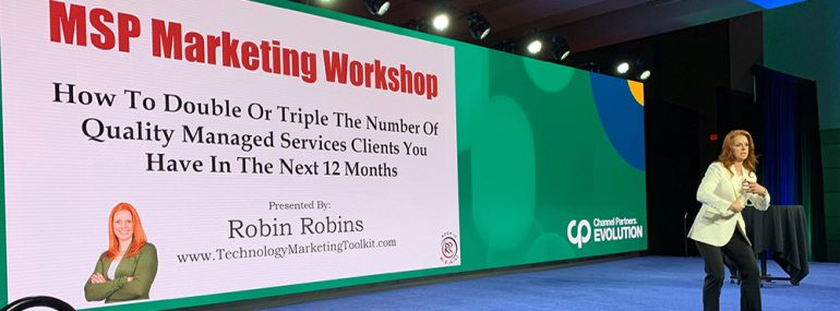 Robin Robins at 2019 Channel Partners Evolution pre-conference.