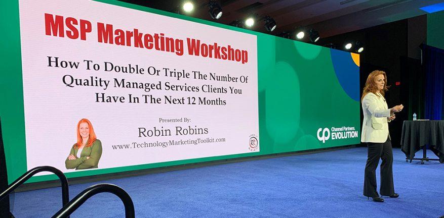 Robin Robins at 2019 Channel Partners Evolution pre-conference workshop.