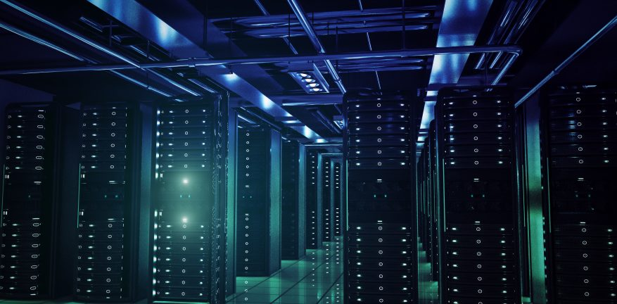 network servers racks with light,3D physically rending high quality.
