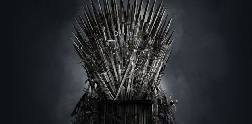 Medeival Iron Throne Made of Weapons