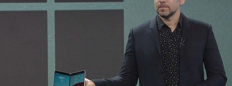 Panos Panay demos Surface Duo