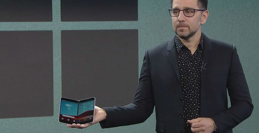 Panos Panay demos Surface Duo