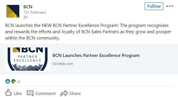 BCN linkedin post