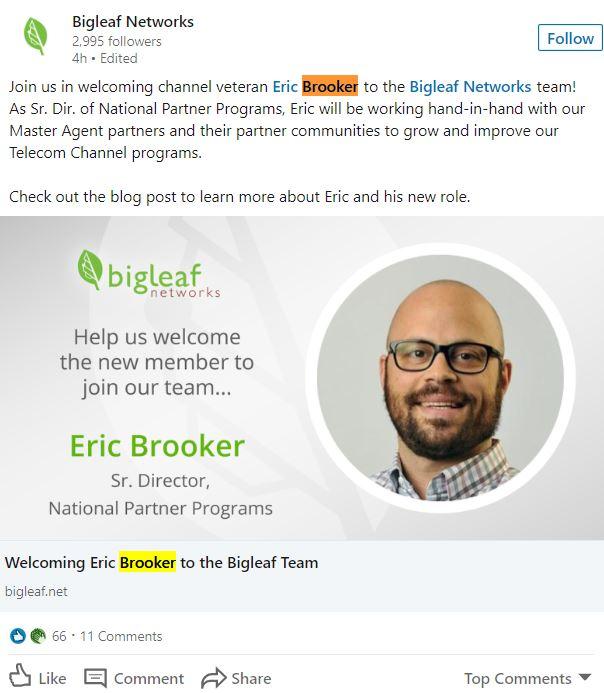 Bigleaf Networks LinkedIn