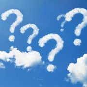 Cloud question marks