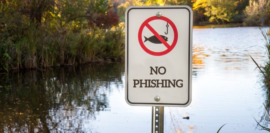 No Phishing Sign