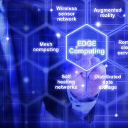 Edge Computing highlighted in sea of hexagons