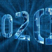 2020 on digital background