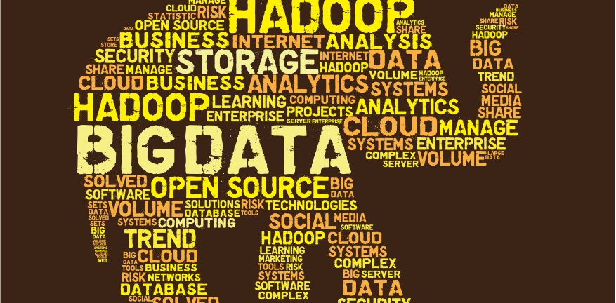 Big data word salad shaped like an elephant