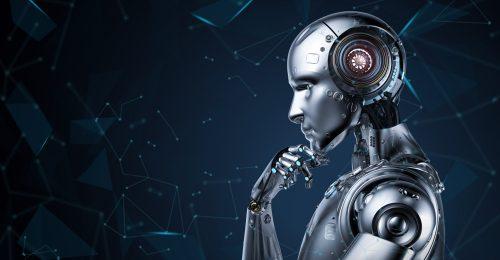 Robot man thinking