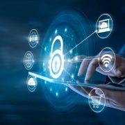 Digital depiction of security lock