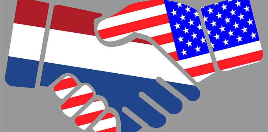 Netherlands-US handshake