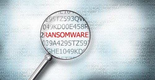 reading ransomware digital computer screen magnifying glass 3D Illustration