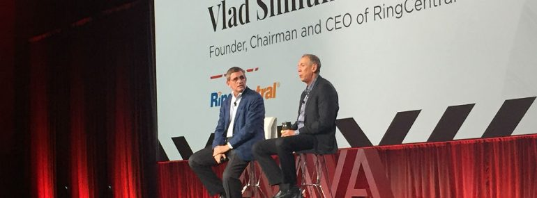 Avaya president and CEO Jim Chirico and RingCentral founder and CEO Vlad Shmunis
