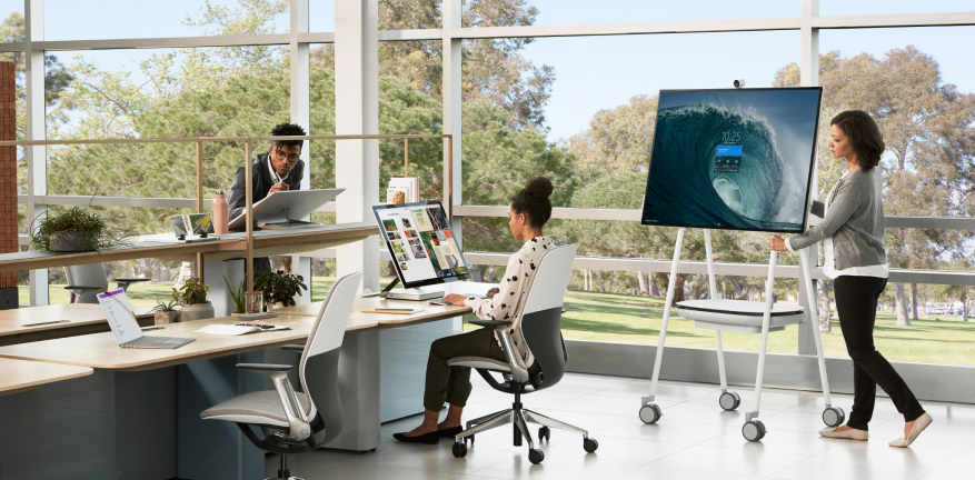 Collaborative workplace with Steelcase