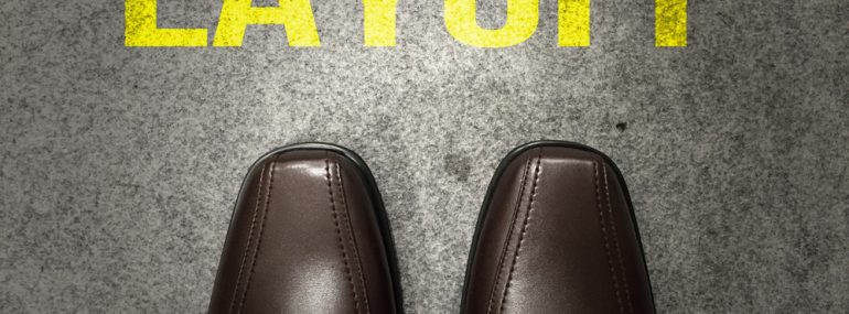 Layoffs - man's dress shoe