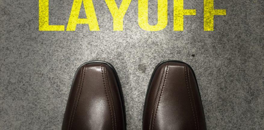 Layoffs - man's dress shoe