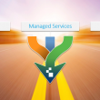 Arrows converging and labeled Managed Services