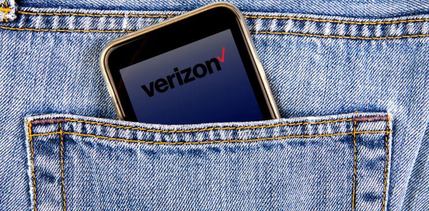 Verizon phone in blue jean pocket