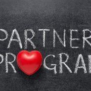 Partner Program in chalk on blackboard for Microsoft gallery